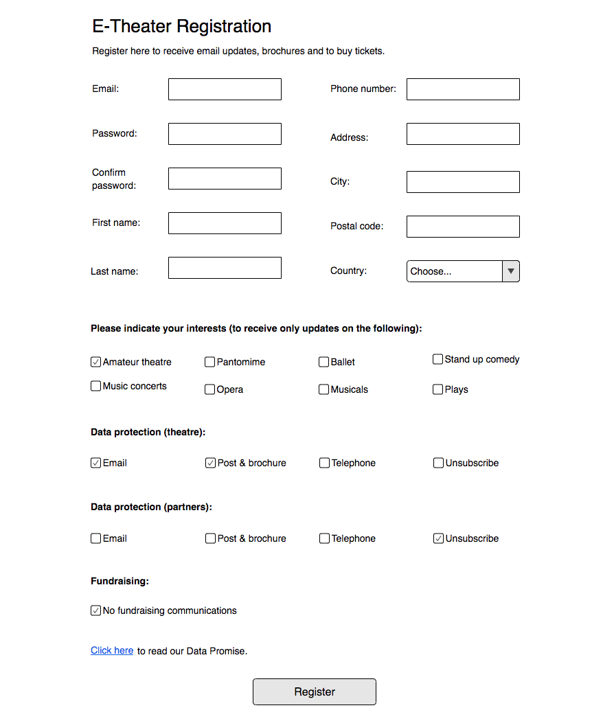 Sometimes lots of checkboxes is the only way to make your consent form GDPR compliant