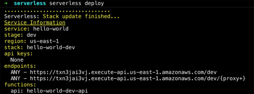 serverless framework deployment