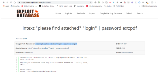 One of the more advanced tools which is often used before conducting penetration test is Exploit Database